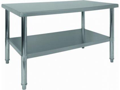 NORDline NS 12 nerezový stůl bez lemu