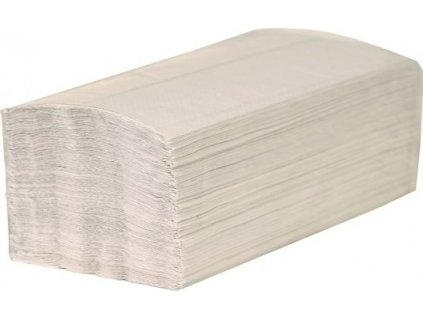 Papírové ručníky skládané Z-Z, jednovr. šedé