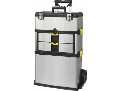 Kufr na nářadí na kolečkách, nerez 570x350x830mm, max. nosnost 36kg
