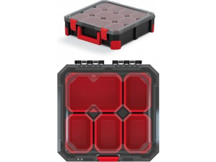 Organizér TITAN - 5 krabiček, průhledné víko 280x280x110