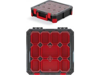Organizér TITAN - 10 krabiček, průhledné víko 390x390x110