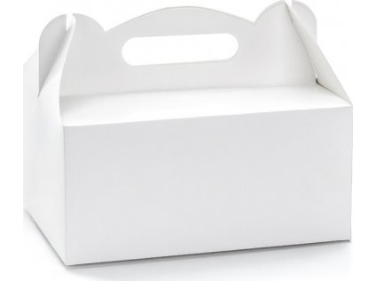Krabička s uchem PAP27x18/8 cm bílá 50ks/bal.