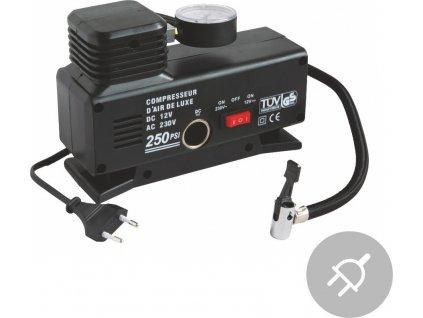 Elektrický kompresor Aircom AC250, 250PSI, 220V/12V