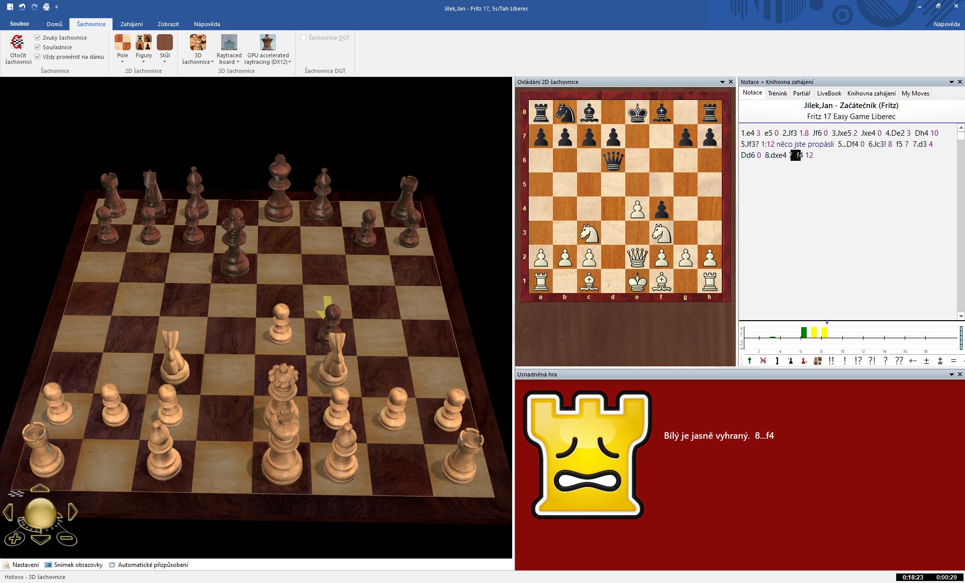 3D šachovnice