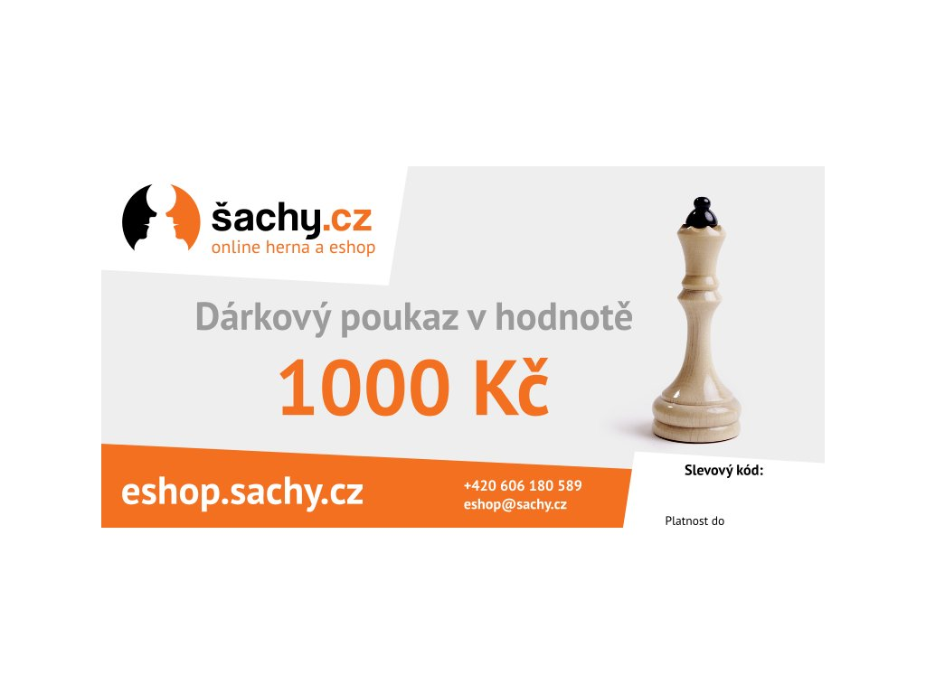 Dárkový poukaz šachy.cz 1000 Kč