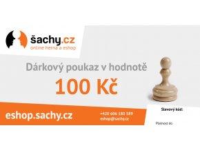 Dárkový poukaz šachy.cz 100 Kč
