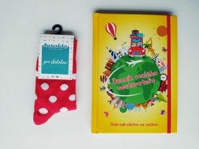 Denník malého cestovateľa + detské ponožky zn. Fusakle
