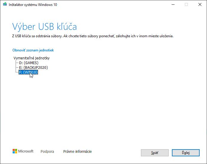 2020-10-22 23_26_51-Inštalátor systému Windows 10
