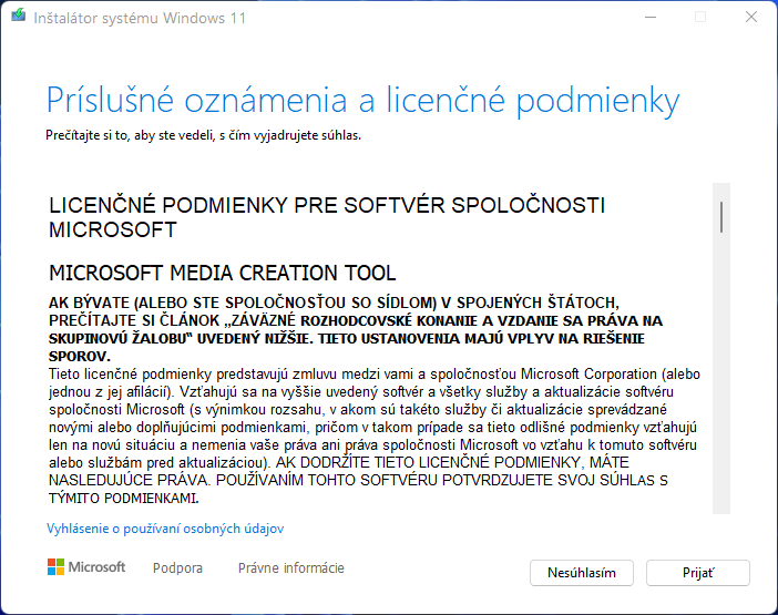 2021-10-05 15_05_14-Inštalátor systému Windows 11