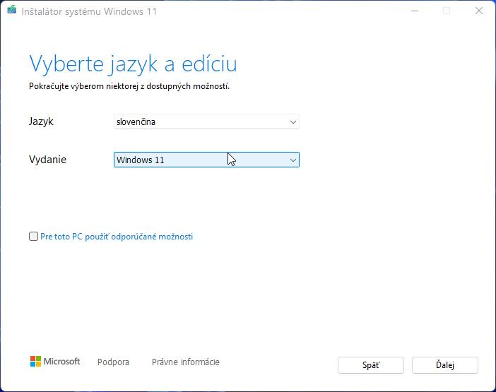 2021-10-05 15_07_33-Inštalátor systému Windows 11