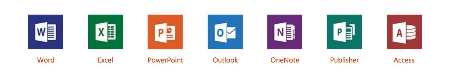 Office 2019 Pro Plus icons