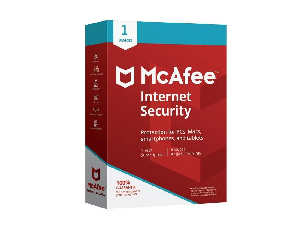 McAfee Internet Security 2020 1 Zariadenie 12 mes.