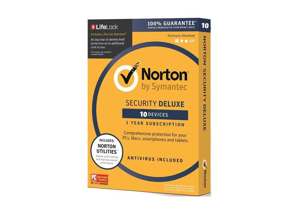 Norton 360 Deluxe 10 Zariadení 12 mes.