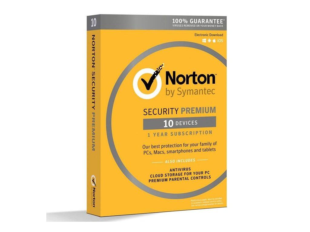 Norton Security Premium + Backup 25 GB 10 Zariadení 12 mes.