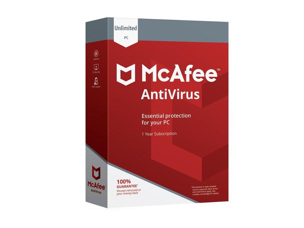 McAfee Antivirus 2020 10 Zariadení 12 mes.