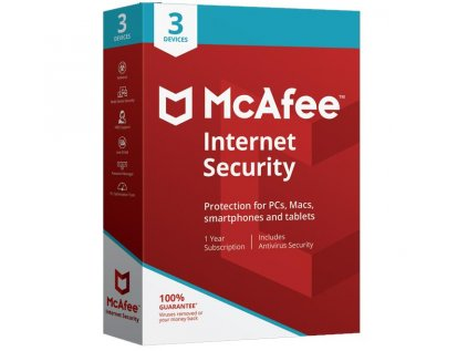 McAfee Internet Security 2020 3 Zariadenia 12 mes.