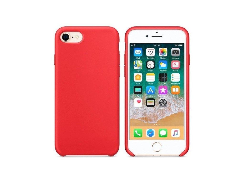 silikonový kryt pro iPhone 6 - červený