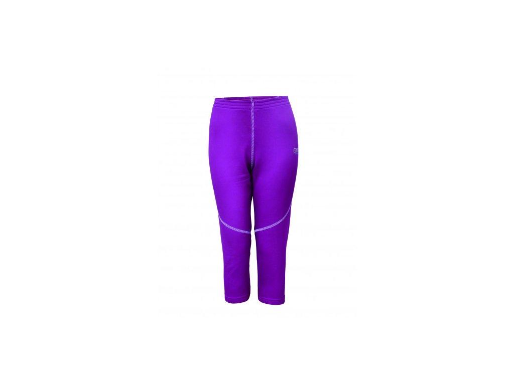 DUVED - dámské kalhoty, powerfleece - fialové