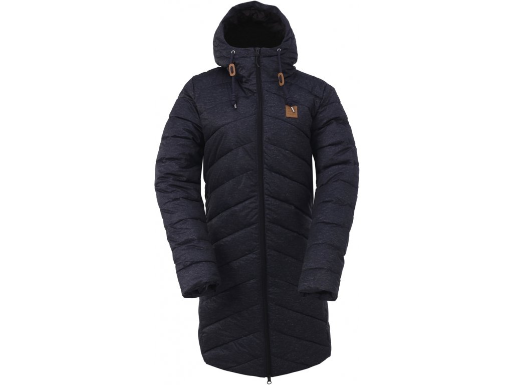 HINDÅS - dámský zateplený kabát - black
