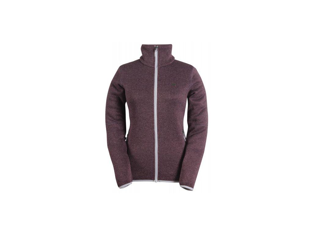 TOBO - dámský svetr se zipem (flatfleece) - fialový