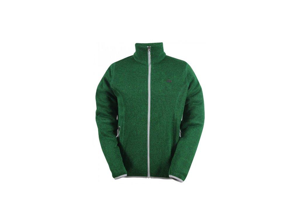TOBO -pánský svetr se zipem (flatfleece) - zelený