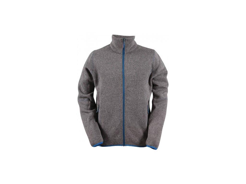 TOBO -pánský svetr se zipem (flatfleece) - šedý