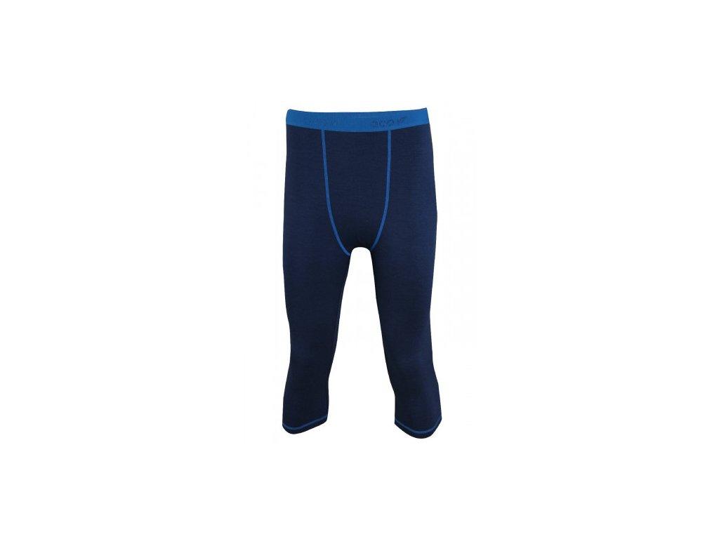 ULLANGER - pánské kalhoty 3/4 /merino vlna), barva modrá
