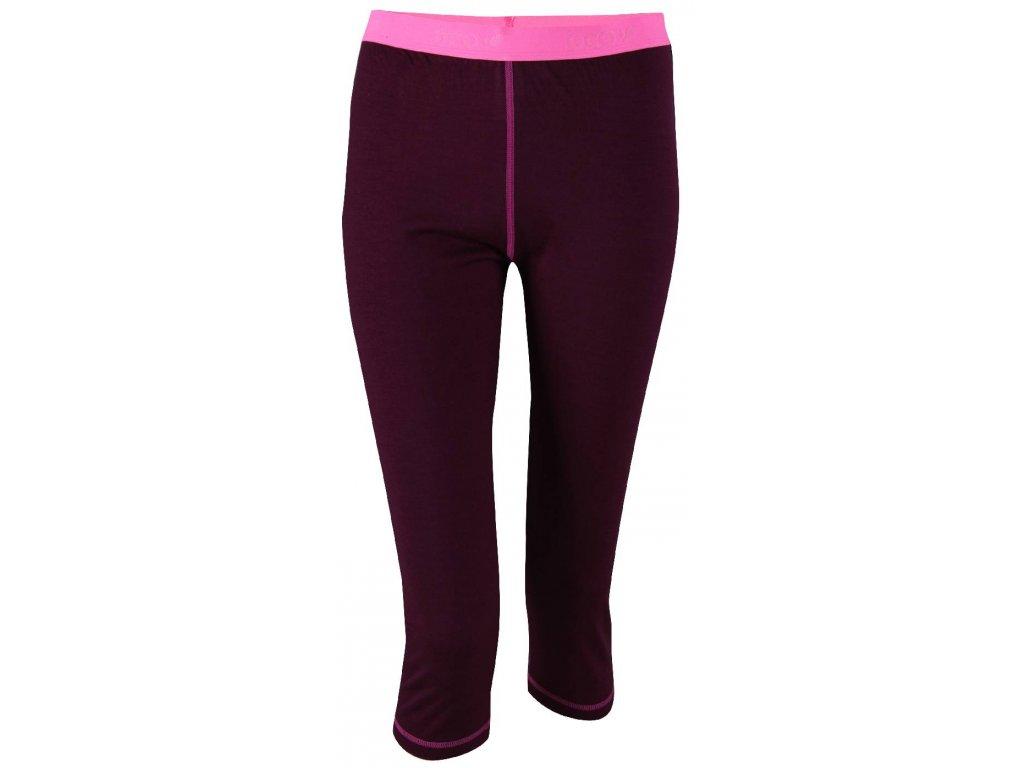 ULLANGER - dámské sp. kalhoty 3/4 (merino vlna), barva fialová
