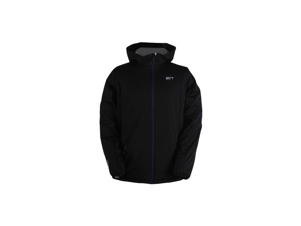 FARBO - pánská softshelová bunda s kapucí - černá