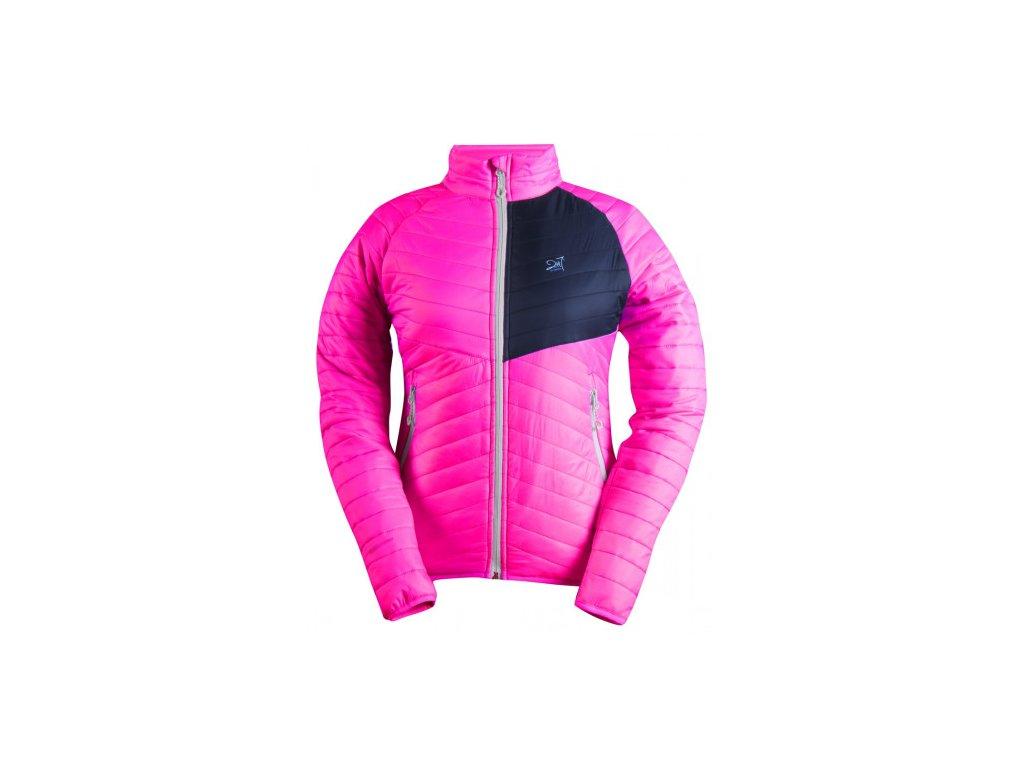 JÄKKVIK- dámská ECO izolační bunda - růžová