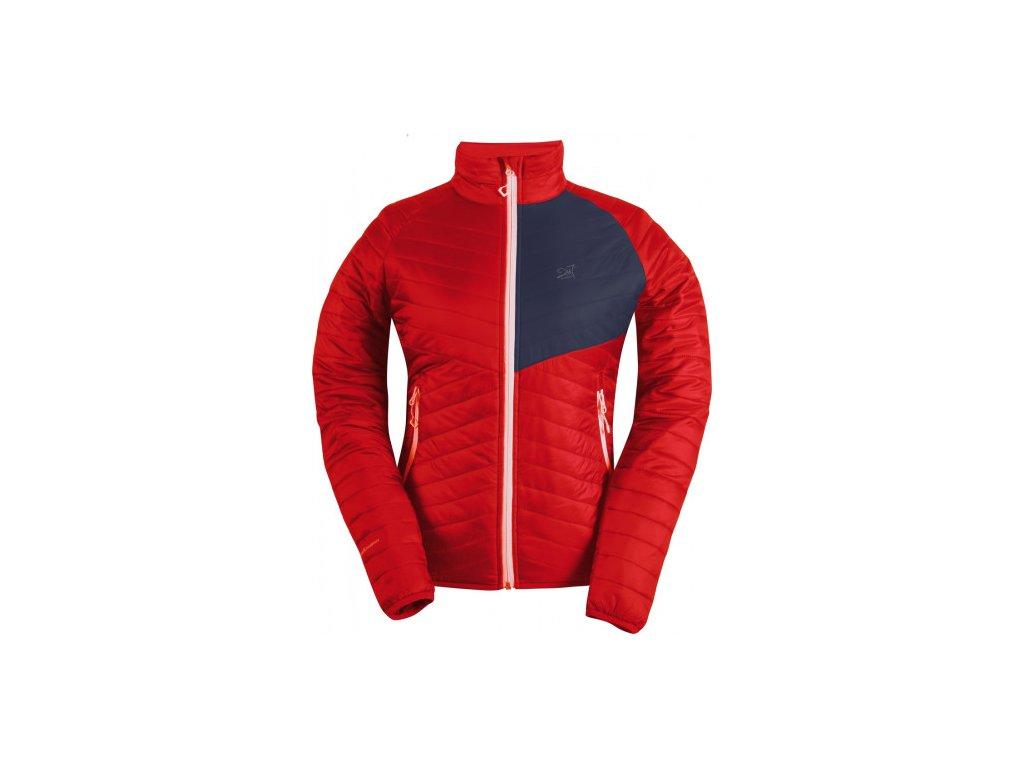 JÄKKVIK- dámská ECO izolační bunda - červená