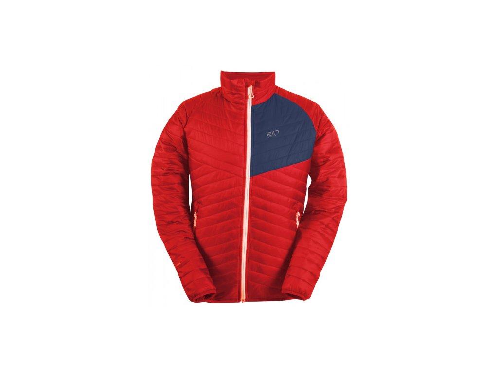 JÄKKVIK- pánská ECO izolační bunda - červená