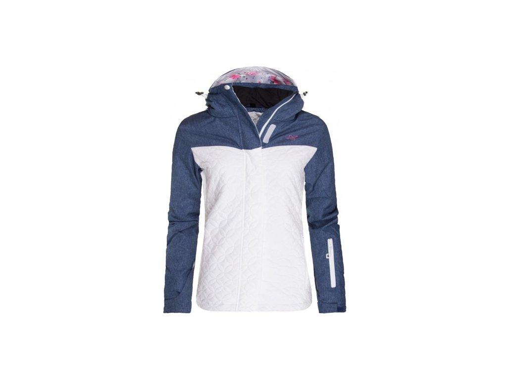 KANAN - dámská lyžařská bunda s kapucí 10/10 - modro - bílá
