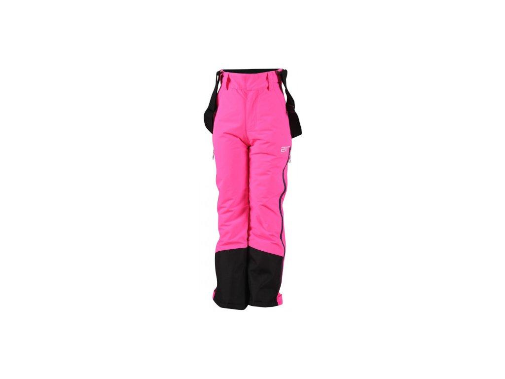 LÖVNÄS -ECO junior lyžařské kalhoty(DWR) - růžové