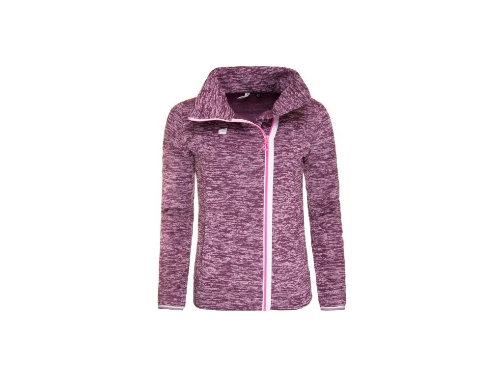 STORBO - dámský svetr (wavefleece, of center zip) - fialový