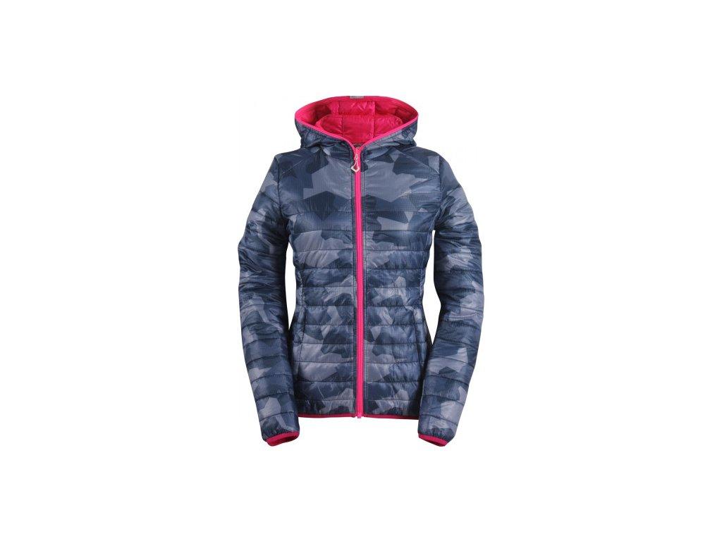SVANSELE - ECO dámská prošívaná, lehká zateplená bunda - modrá