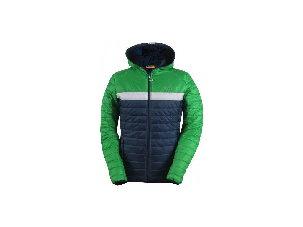 SVANSELE - ECO pánská prošívaná, lehká zateplená bunda - zelená