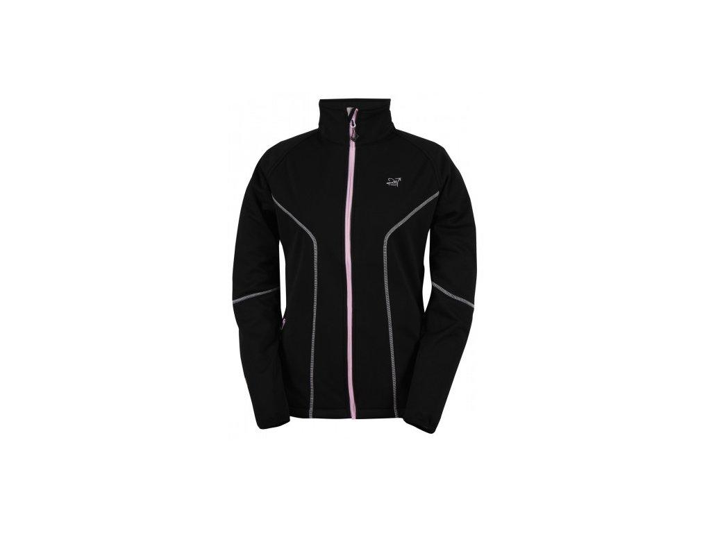 VIRBO - dámská softshelová bunda - černá