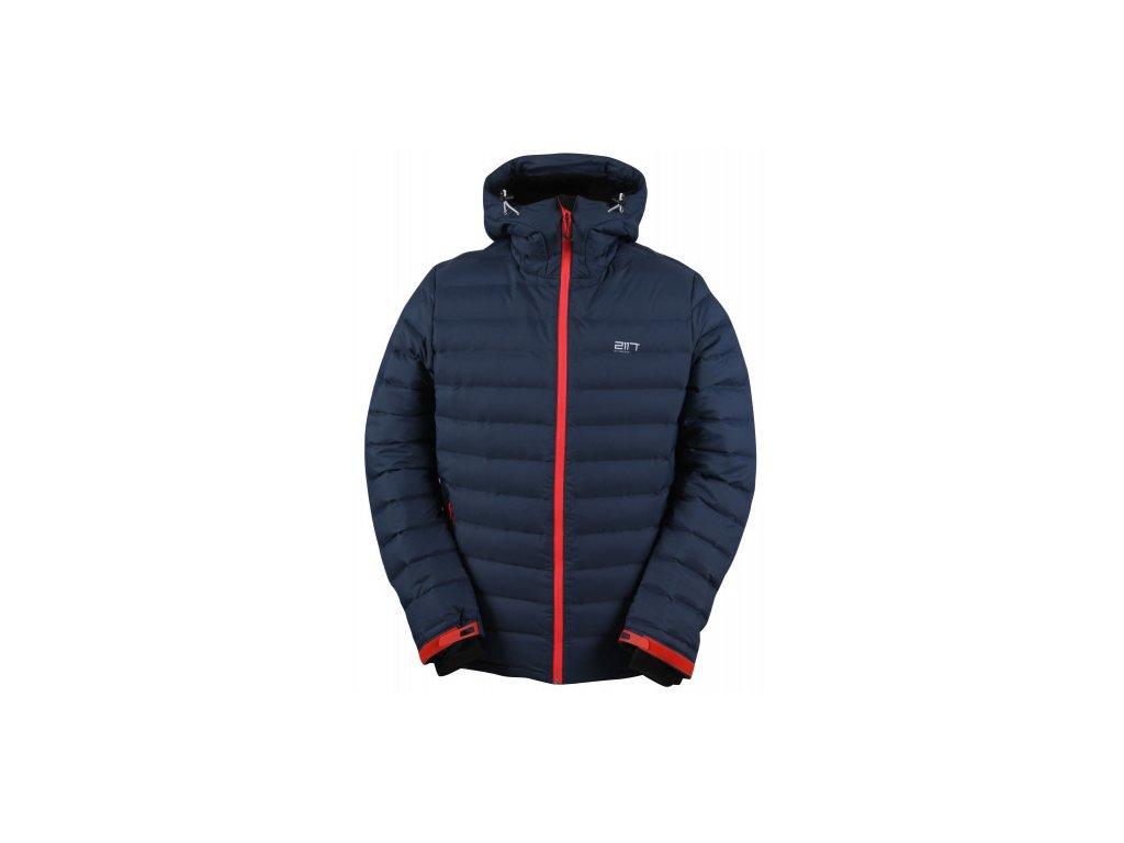 MON - ECO pánská péřová lyžařská bunda - modrá