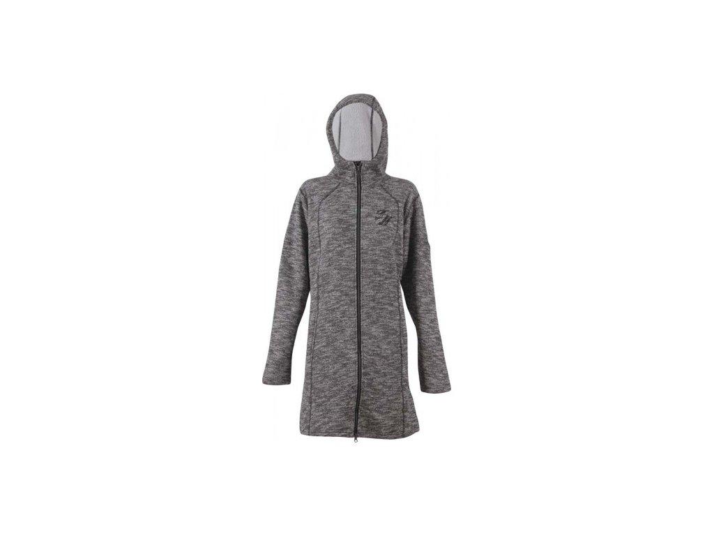 Svetrový kabátek True North Pile - černý melange