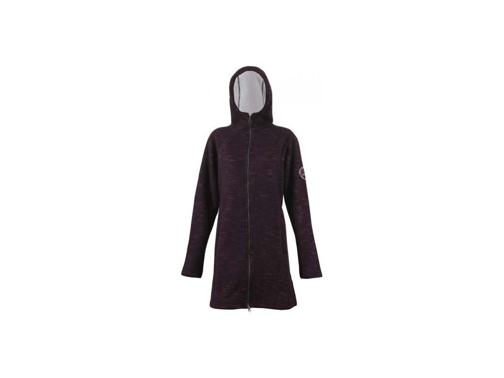 Svetrový kabátek True North Pile - fialový melange
