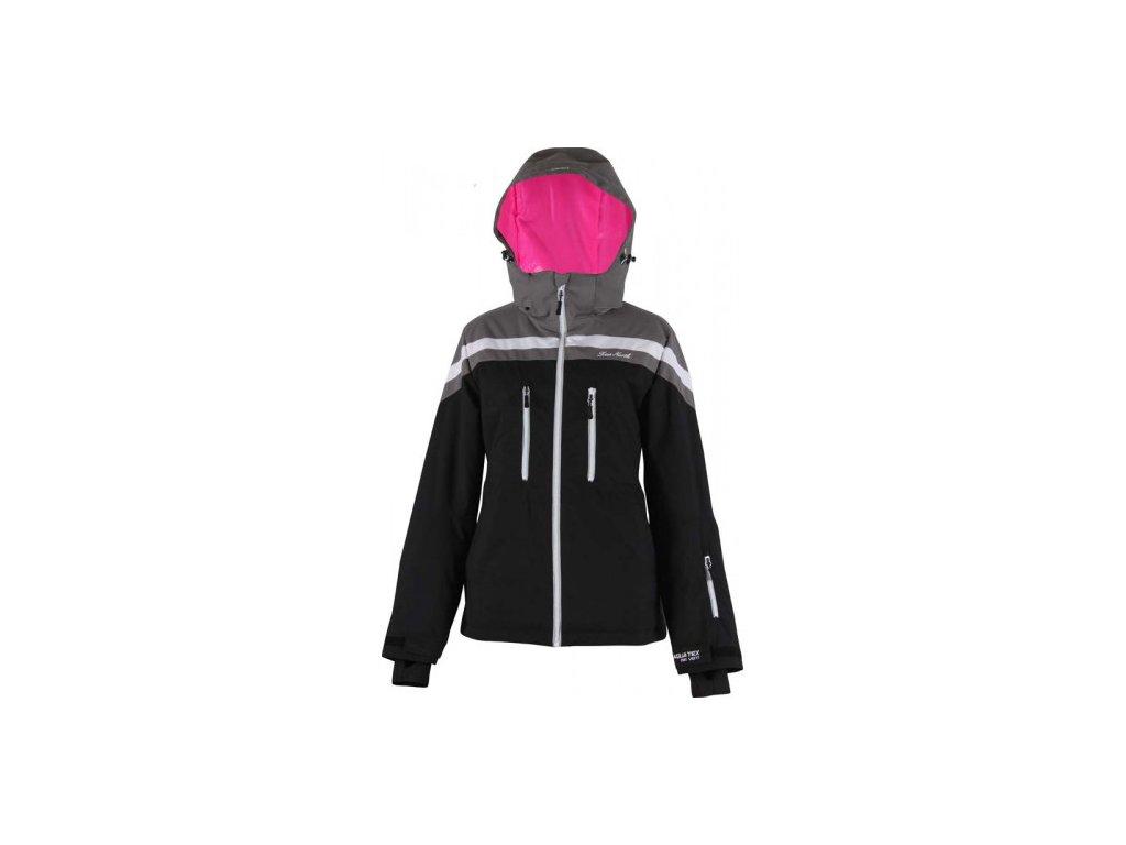 Strečová lyžařská dámská bunda True North- černá