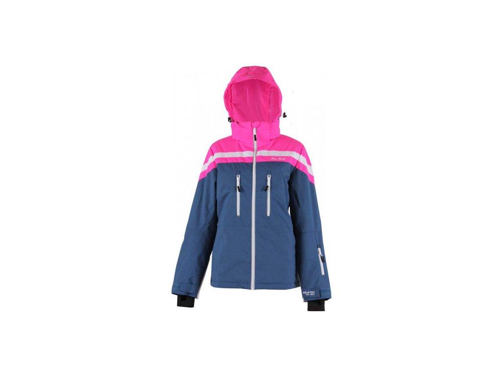 Strečová lyžařská dámská bunda True North- modrá