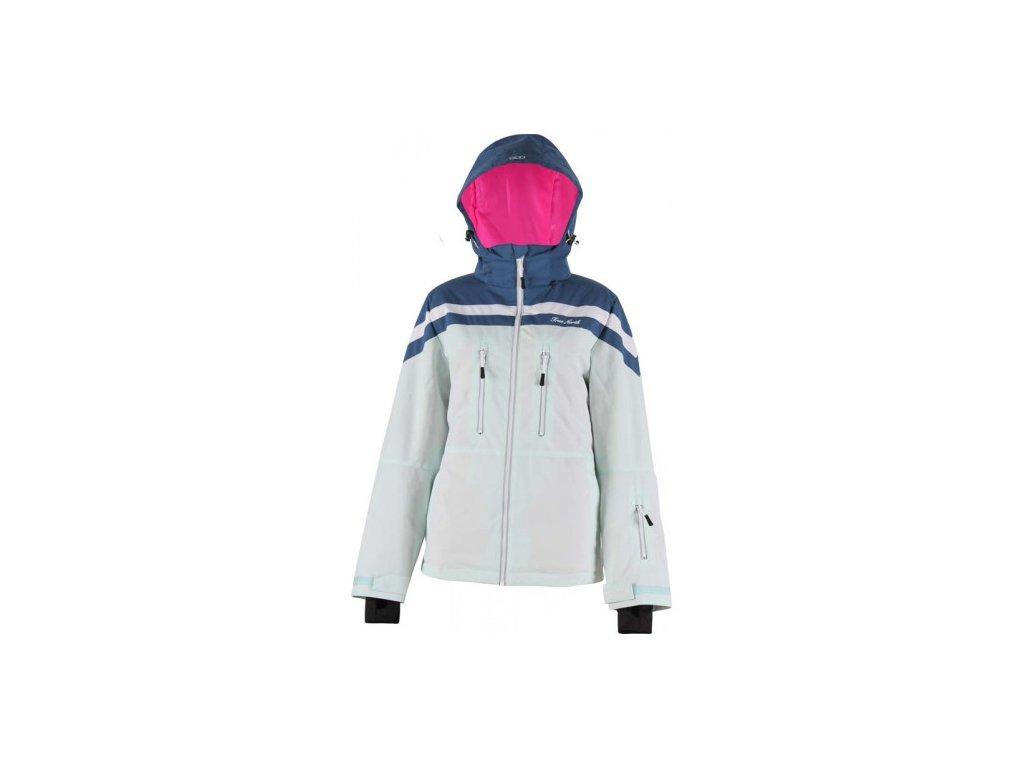 Strečová lyžařská dámská bunda True North- aqua