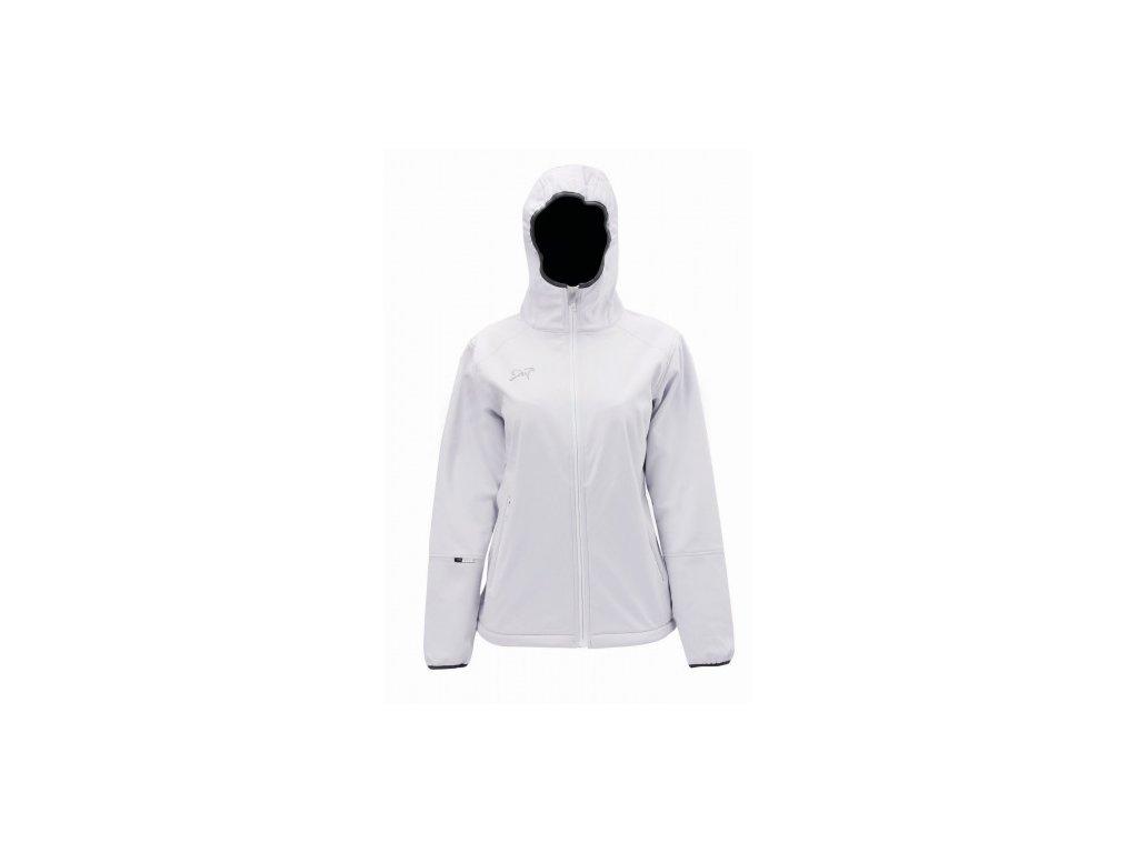 SÄXNÄS - dámská sofshell.bunda s kapucí NOS, Bílá