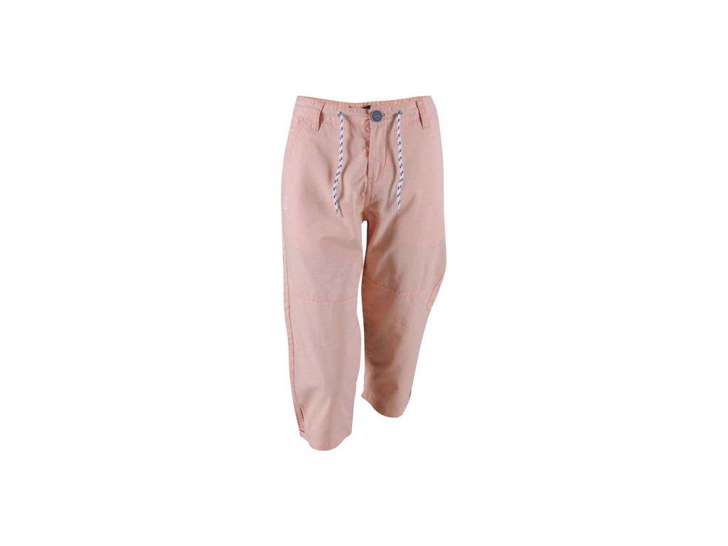 MARINE - 3/4 kalhoty (bavlna, twill) - růžové