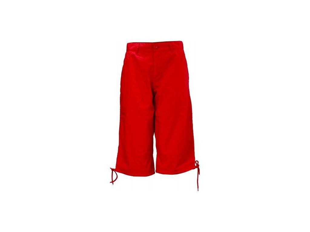MARINE -dámské 3/5 kalhoty - červené