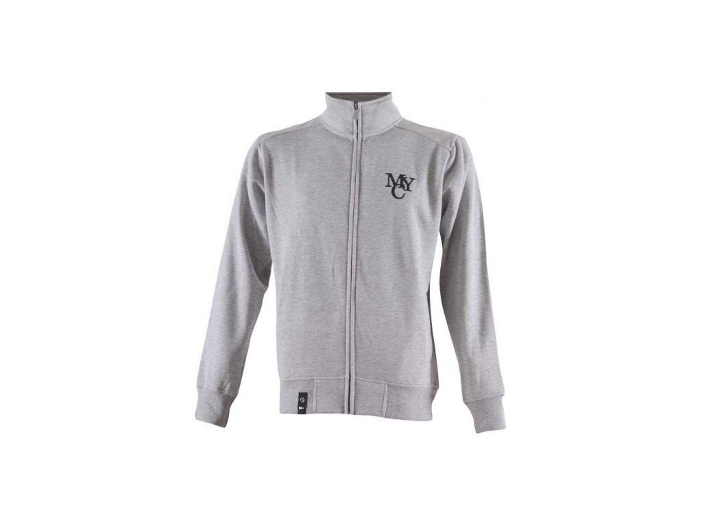 MARINE- pánská mikina (jogging) - šedá melange