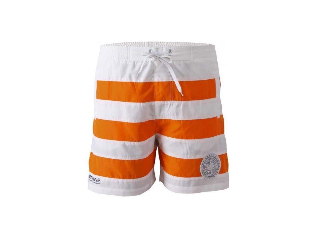 MARINE-pánské plážové šortky - oranžové
