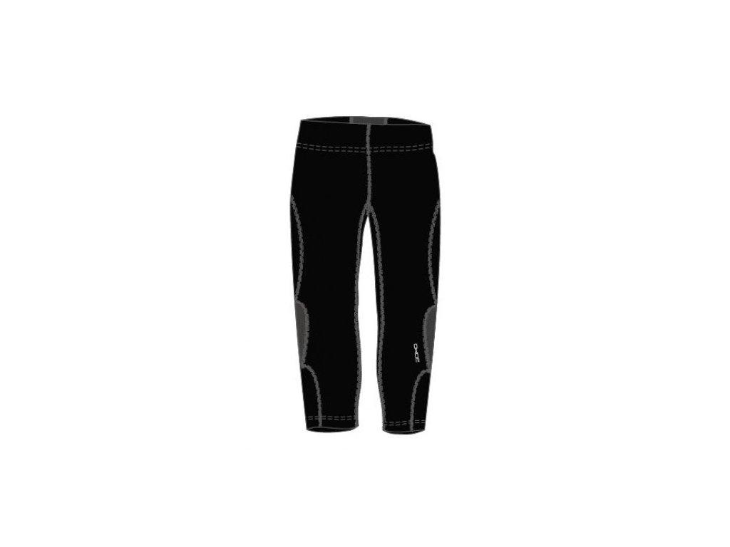 OXIDE - dámské elastické kalhoty 3/4 - černostříbrné